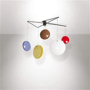 "Gino Sarfatti, a 2072 ""Jo-Jo"" pendant lamp with a"