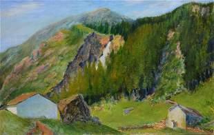Aligi Sassu (1912-2000), La cascata della Sancia, 1938