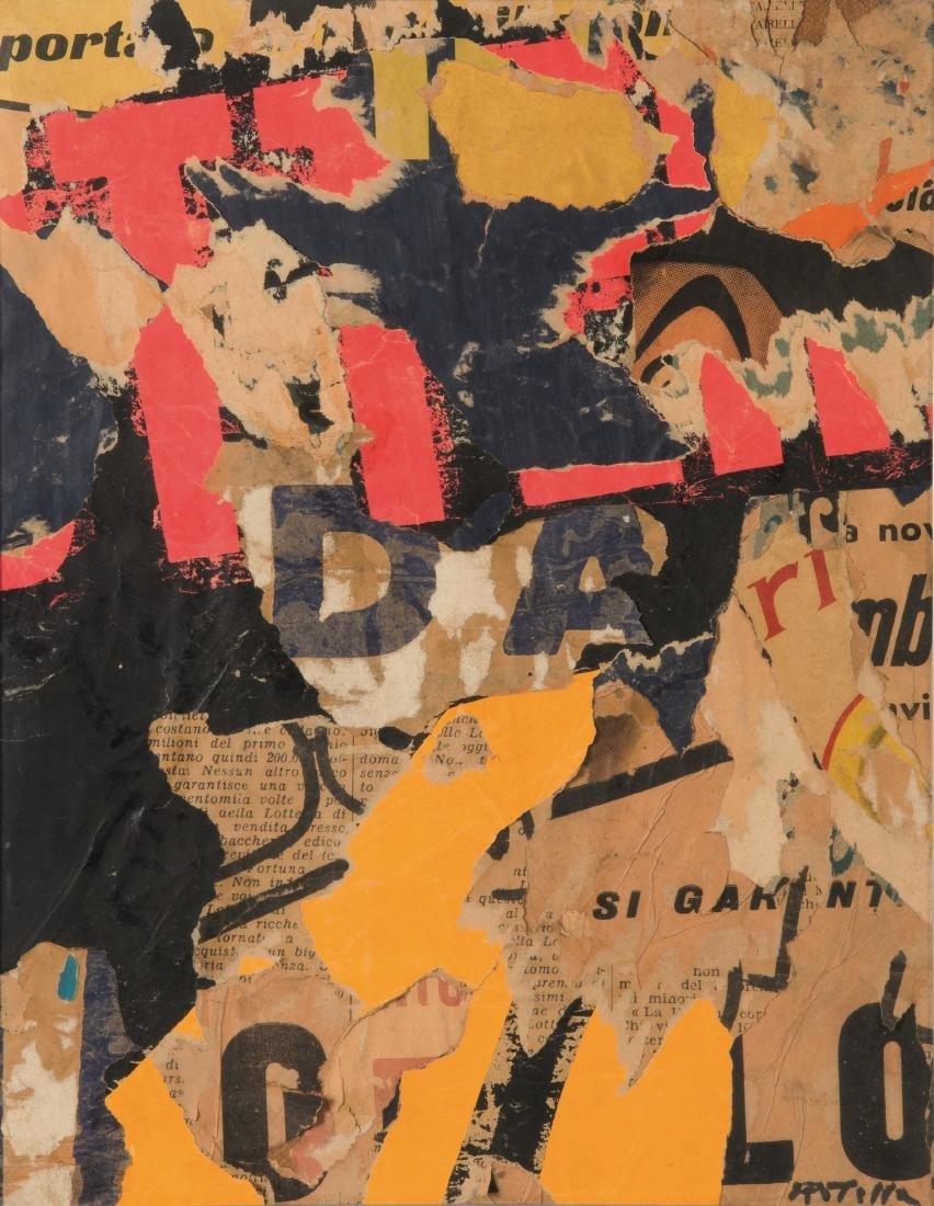 Mimmo Rotella (1918-2006), Si garantisce, 1956