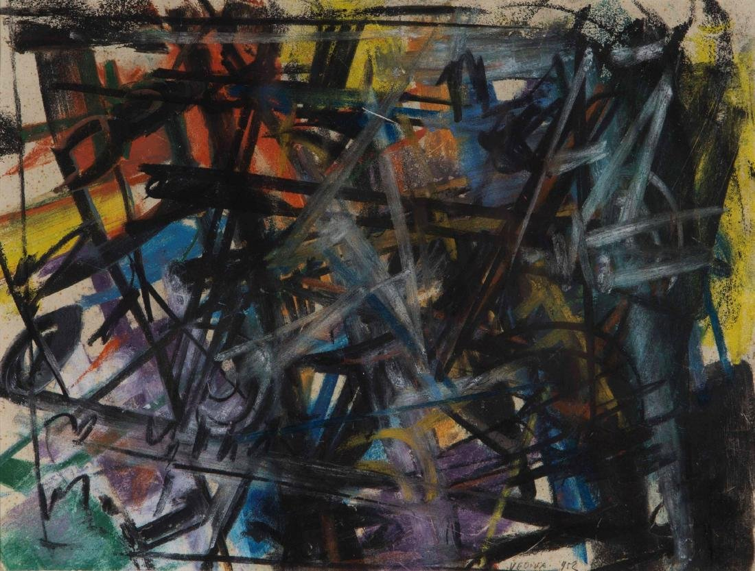Emilio Vedova (1919-2006), Spazio inquieto, 1952