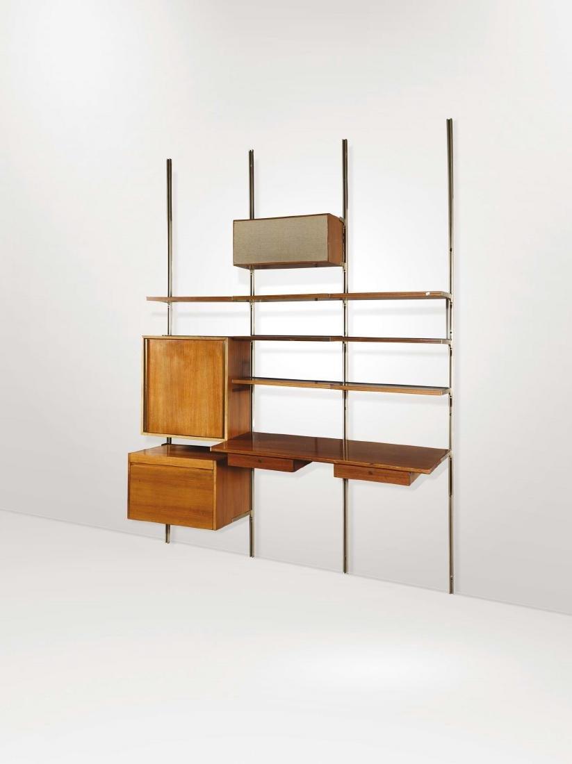 Due mobili componibili E22 con struttura in legno e