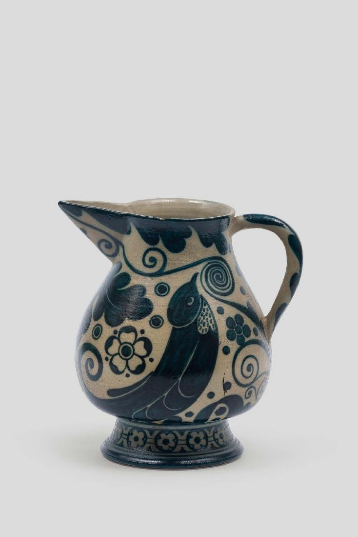 Galileo Chini, Florence, 1910 ca. A gres pitcher with a