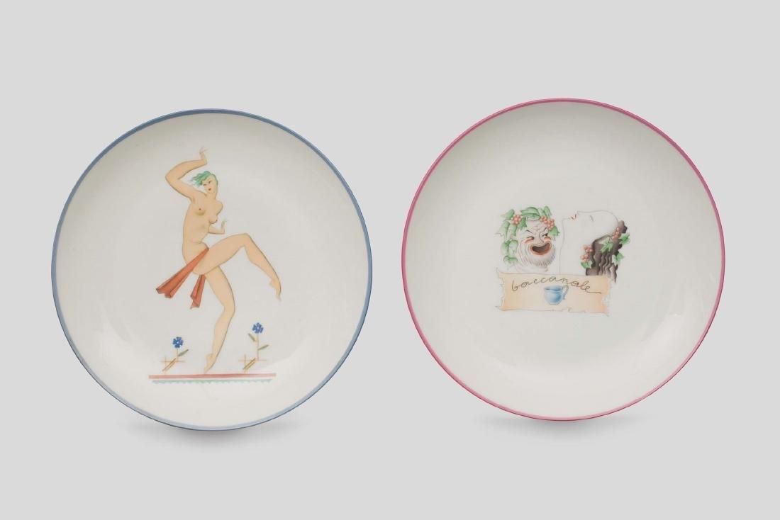 Richard Ginori, 1930 ca. A pair of plates depicting