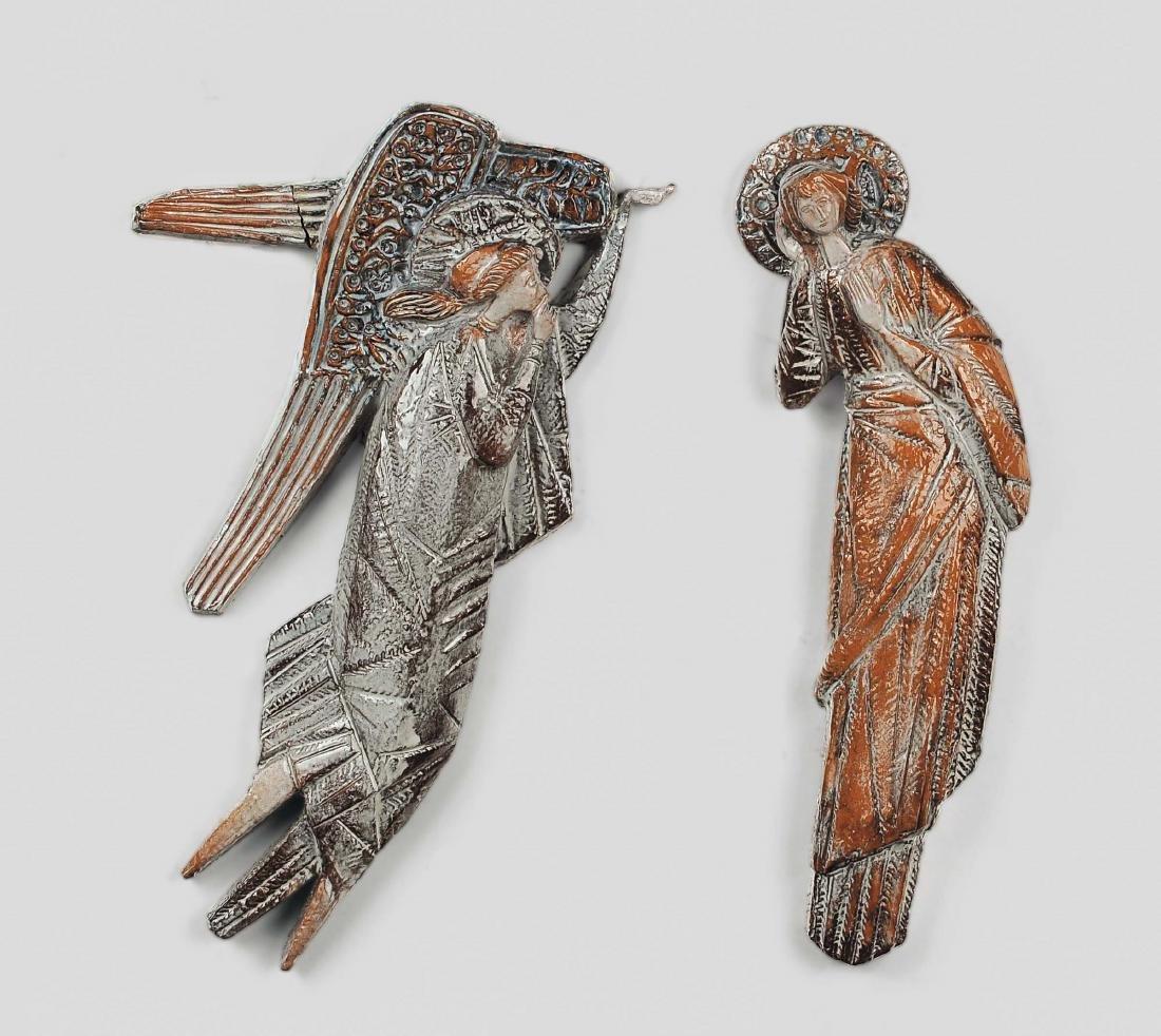 Angelo Biancini, Annunciazione. A pair of terracotta