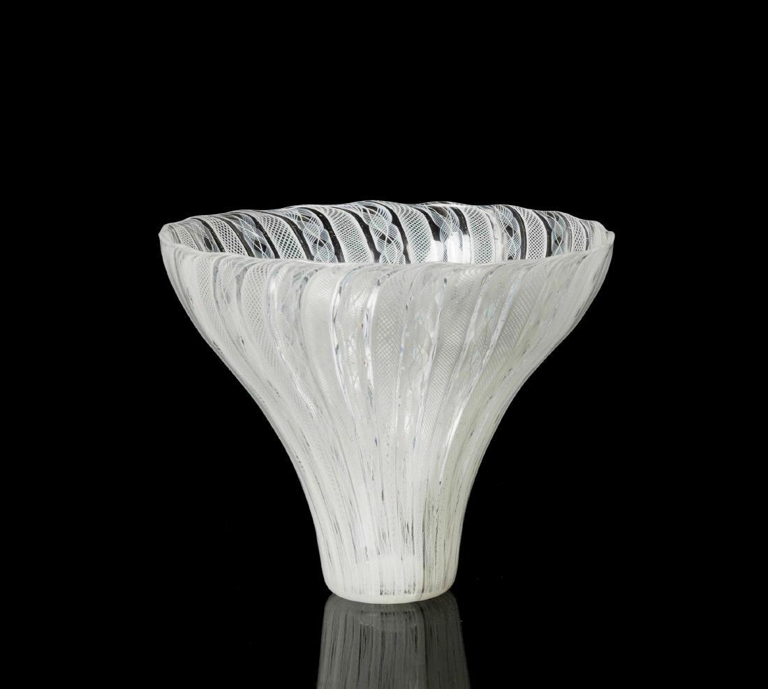 Venini, Murano, 1950 ca. A truncated cone-shaped cup in