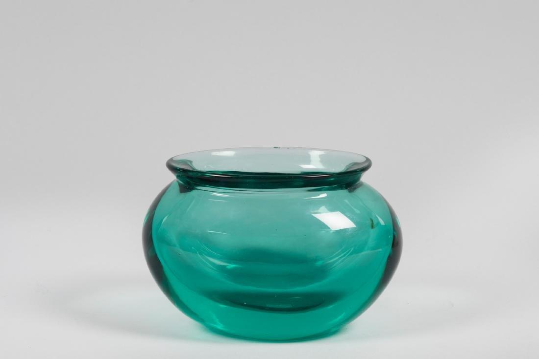 Vetreria Cenedese, Murano, 1960 ca. An ovoidal vase in