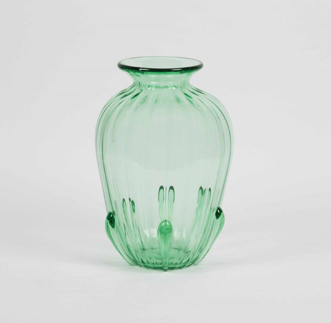 Venini, Murano, 19th century. A large vase in light
