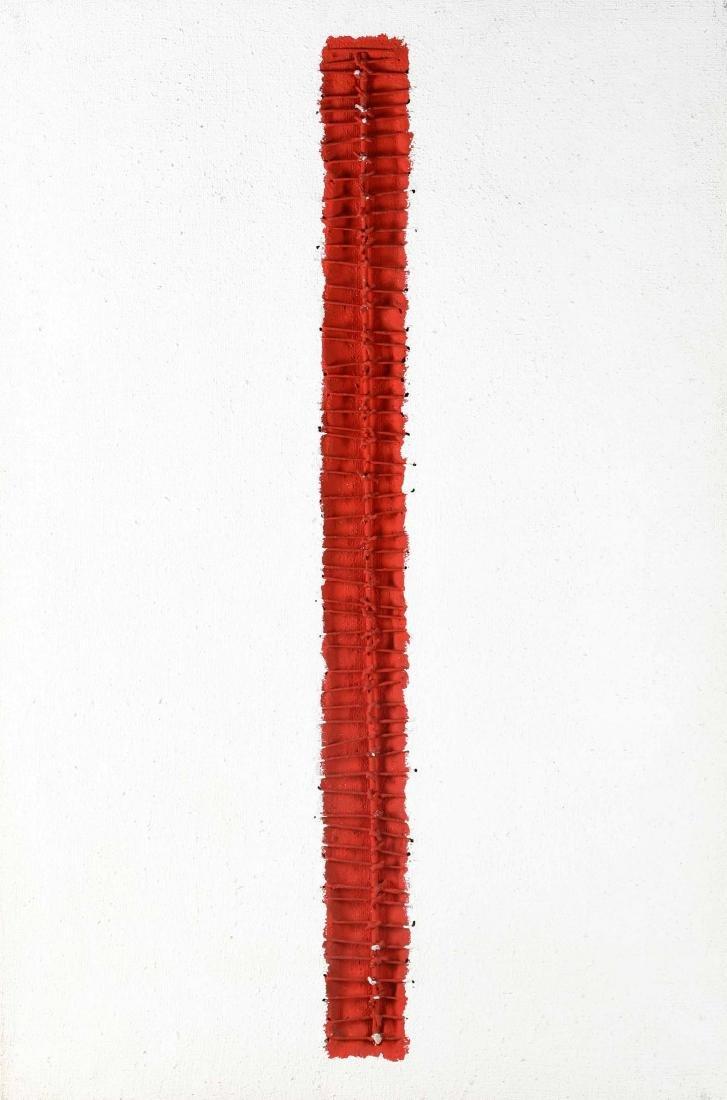 Carlo Bracci (1935-2003), Rosso e Bianco 128