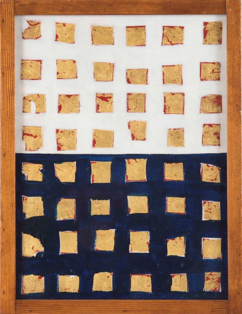 Remo Bianco (1922-1988), Impronta oro e blu (Tableau