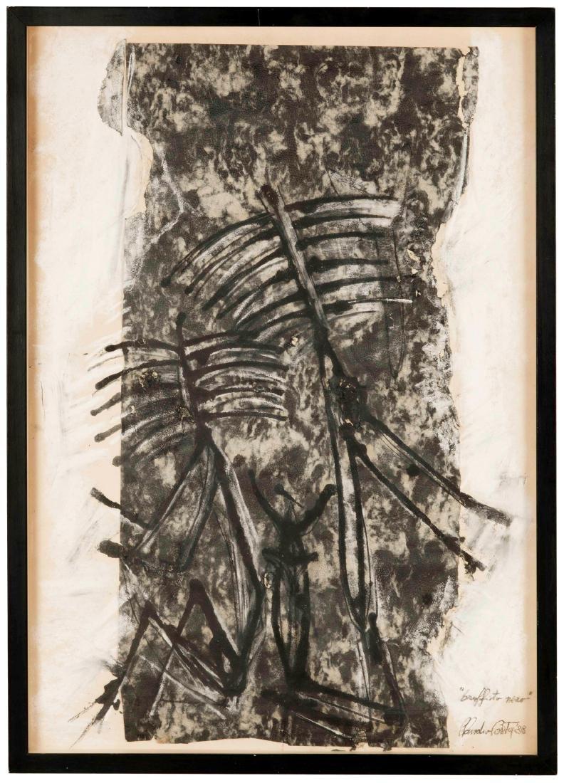 Claudio Costa (1942-1995), Graffito nero, 1988