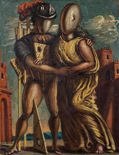 Giorgio De Chirico (1888-1978), Ettore e Andromaca,