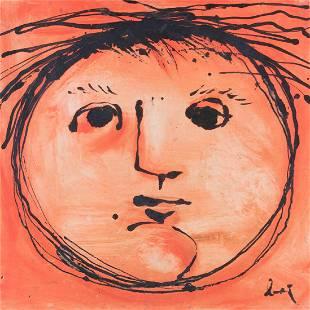 Enrico Baj (1924-2003), Testa solare, 1953