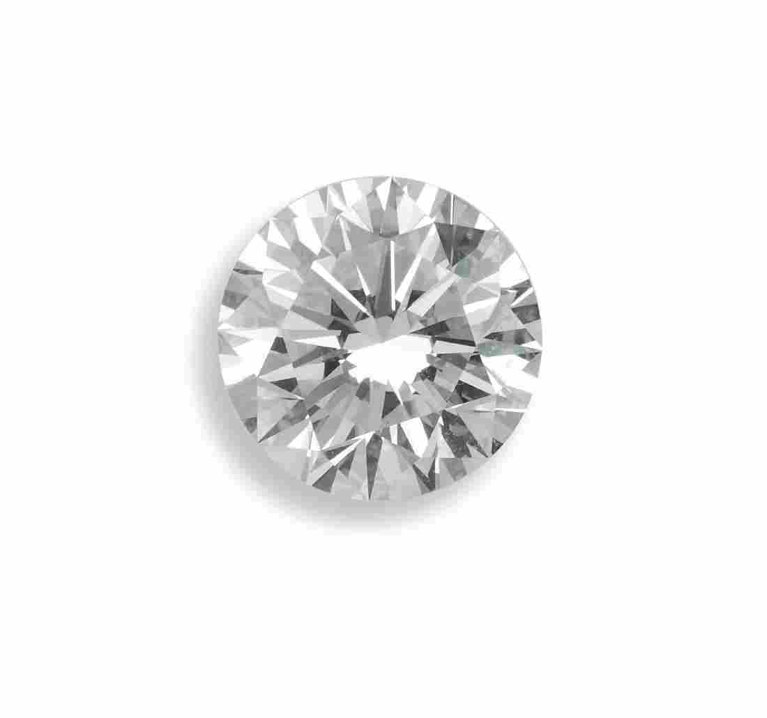 Unmounted brilliant-cut diamond weighing 3.99 carats