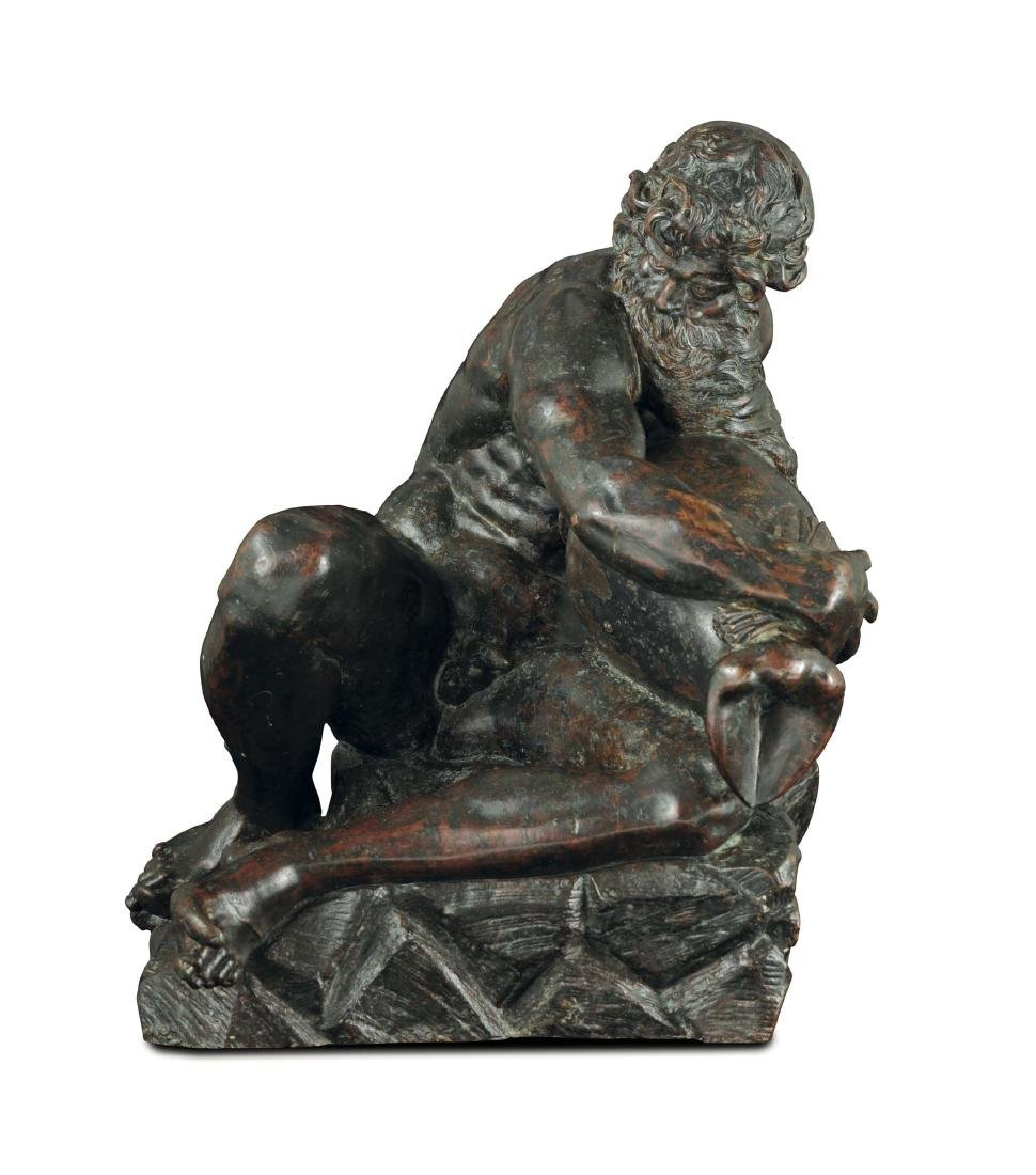 A River God in molten and chiselled bronze. Pietro