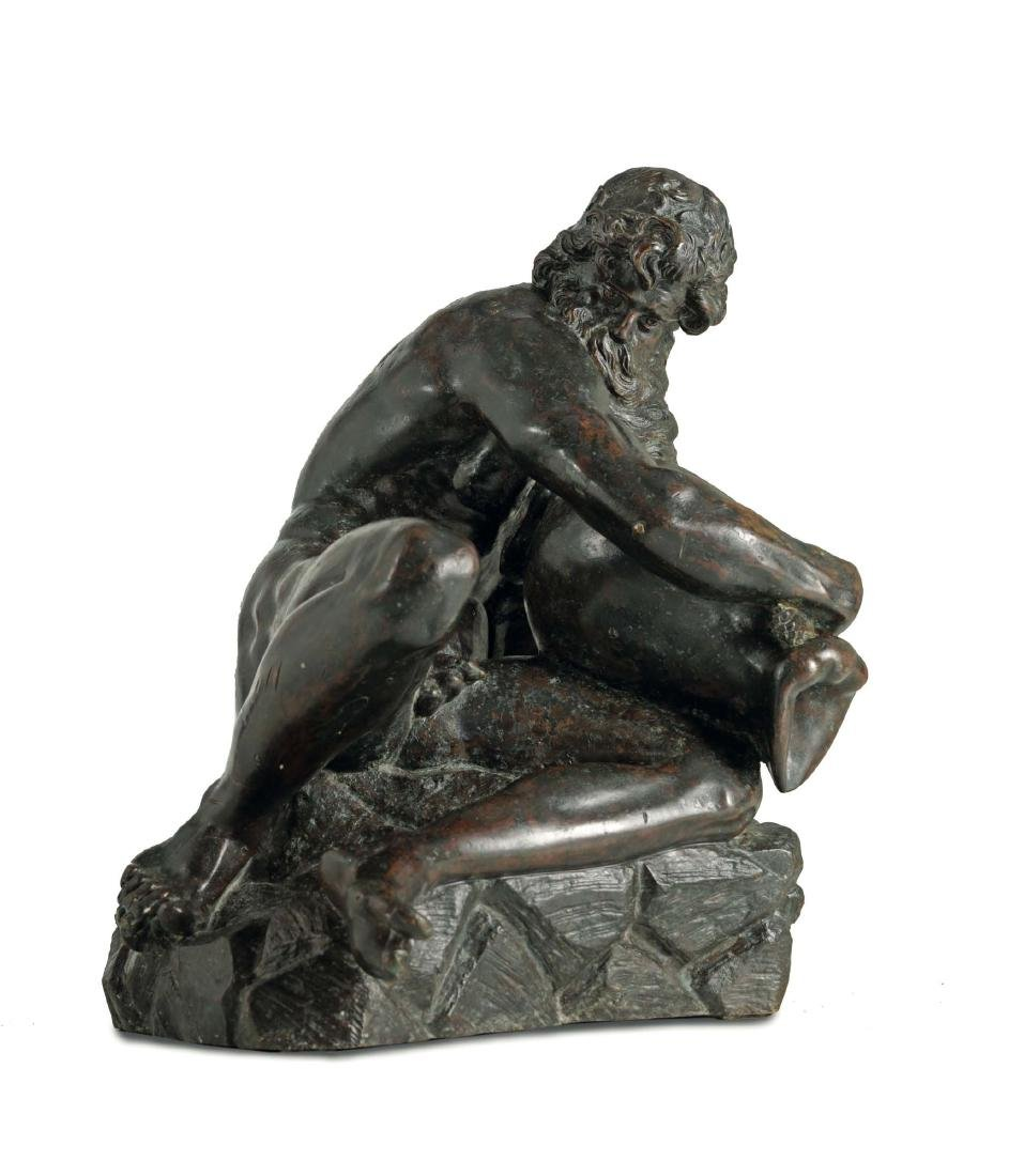 A River God in molten and chiselled bronze. Pietro - 2