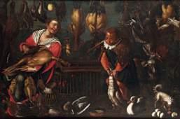 Vincenzo Campi (1532/36-1591), scuola di, Interno con