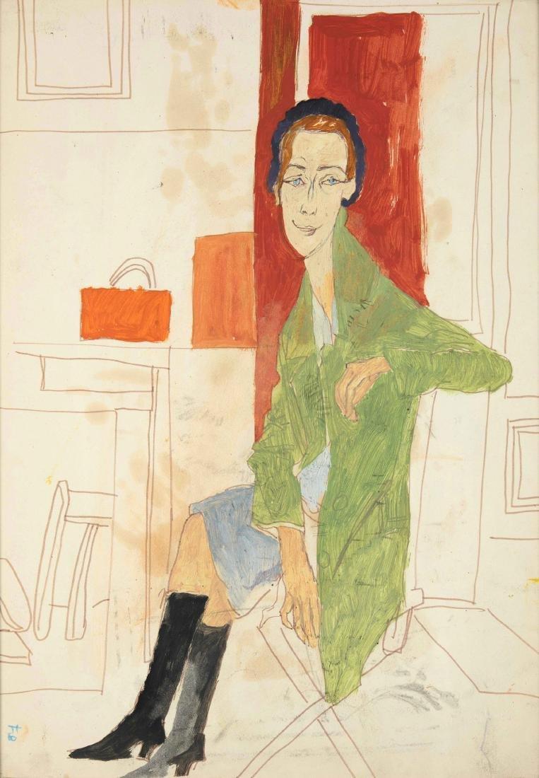 Fulvio Bianconi (1915-1996), Figura di donna seduta