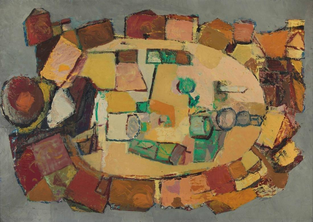 Fulvio Bianconi (1915-1996), Piazza vista dall'alto
