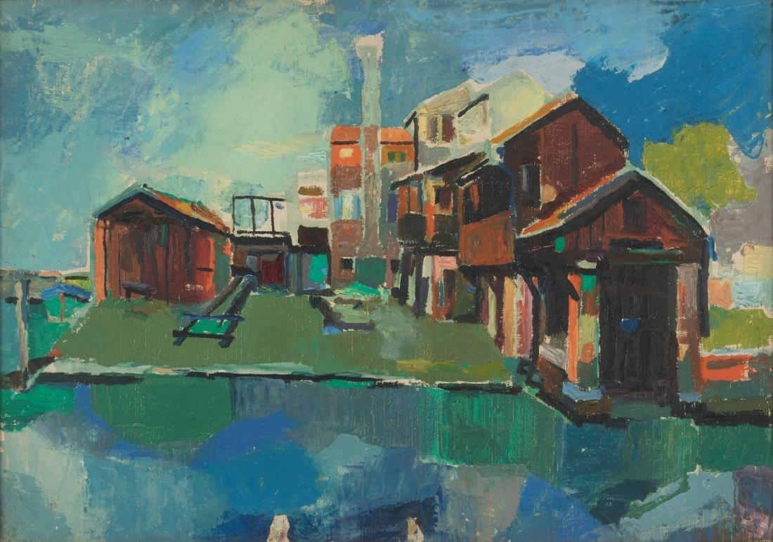 Fulvio Bianconi (1915-1996), Venezia, Squero di San