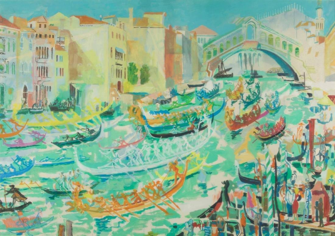 Fulvio Bianconi (1915-1996), Regata sul Canal Grande