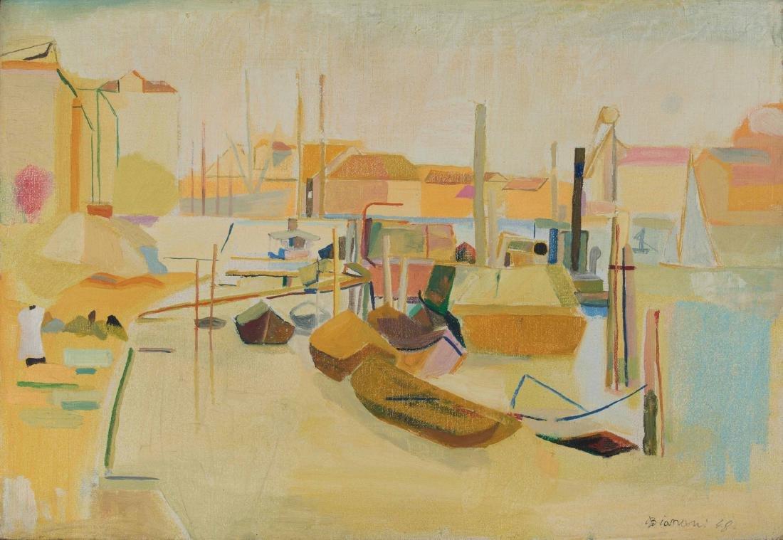 Fulvio Bianconi (1915-1996), Venezia, paesaggio con