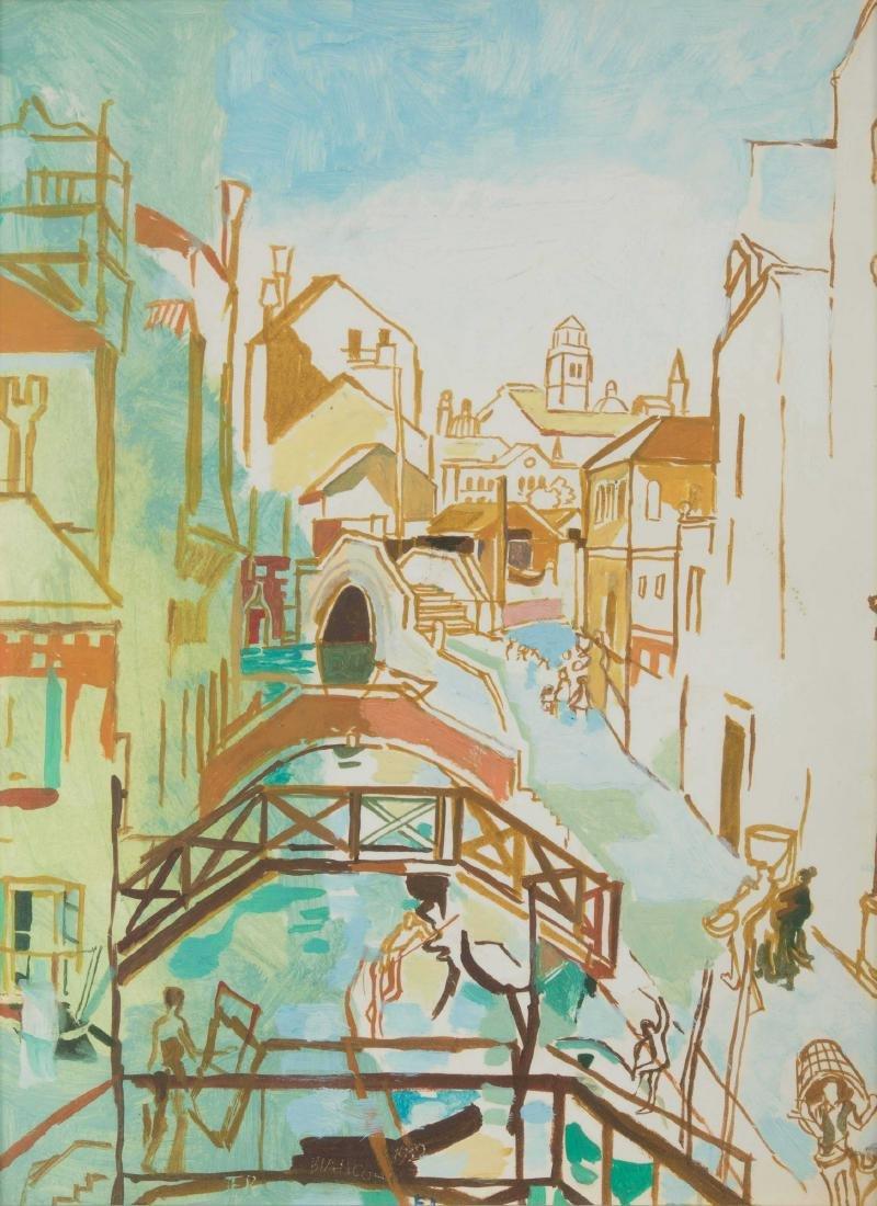 Fulvio Bianconi (1915-1996), Venezia, Veduta di canale