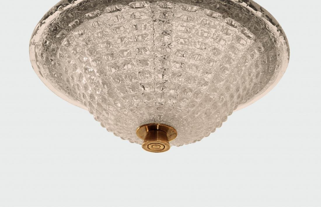 Barovier and Toso, a pendant lamp with a brass - 2
