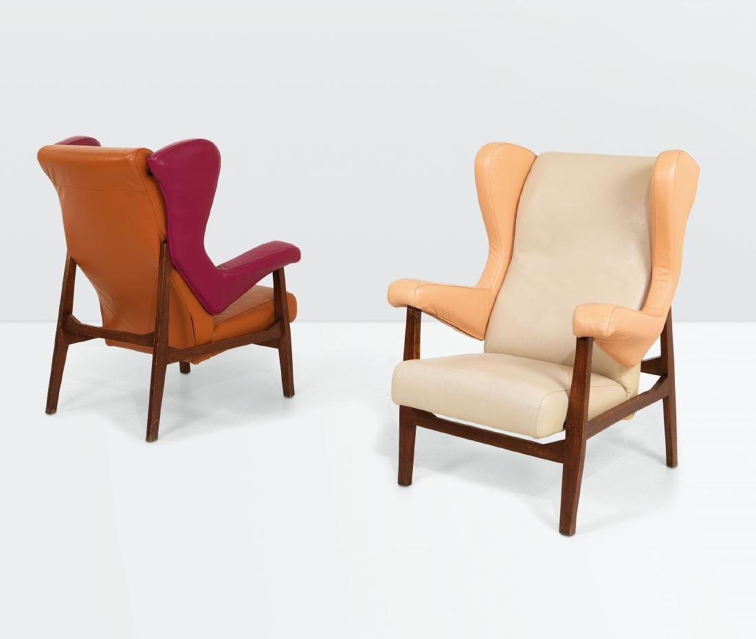 Franco Albini, a pair of Fiorenza armchairs with a
