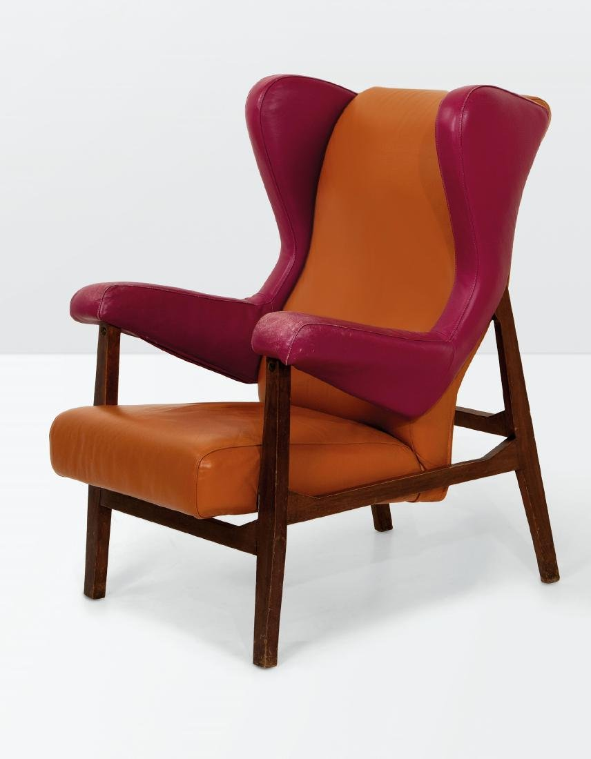 Franco Albini, a pair of Fiorenza armchairs with a - 2