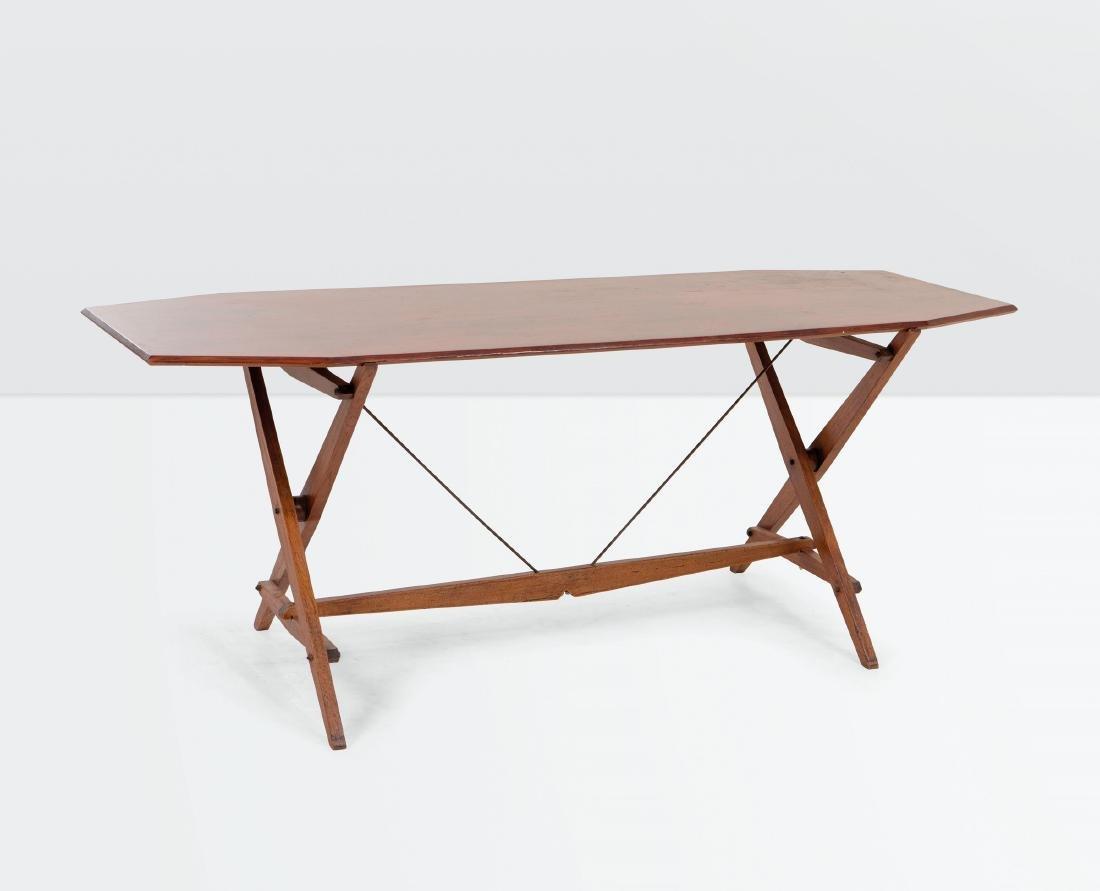 Franco Albini, a Cavalletto TL2 table. Poggi Prod.,