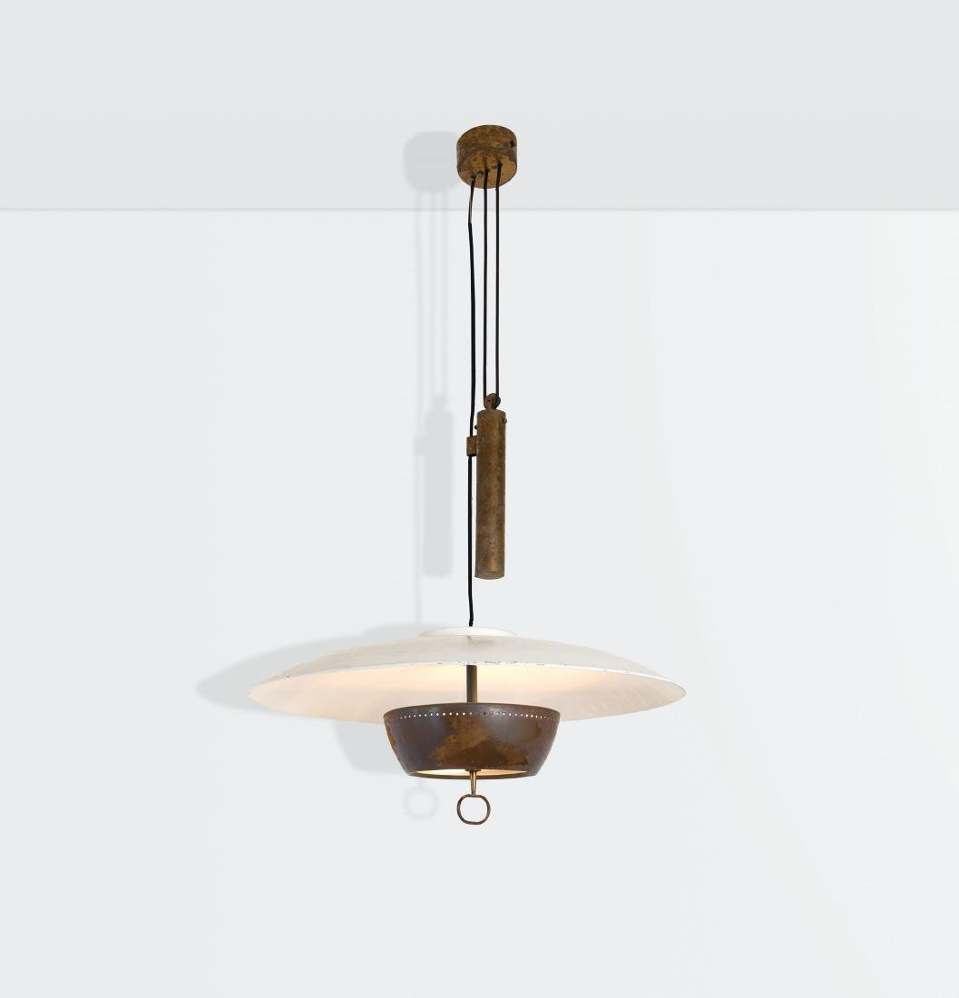 Gaetano Sciolari, an adjustable ceiling lamp with a