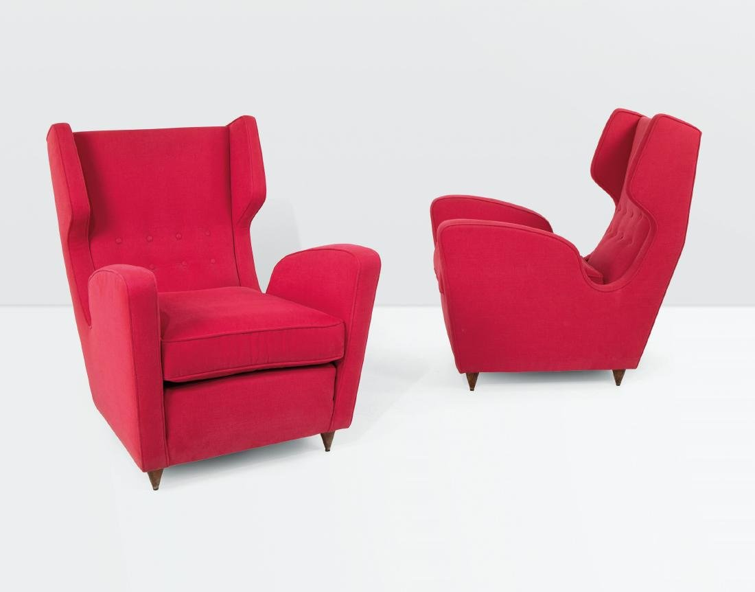 Melchiorre Bega, a pair of armchairs with a wooden