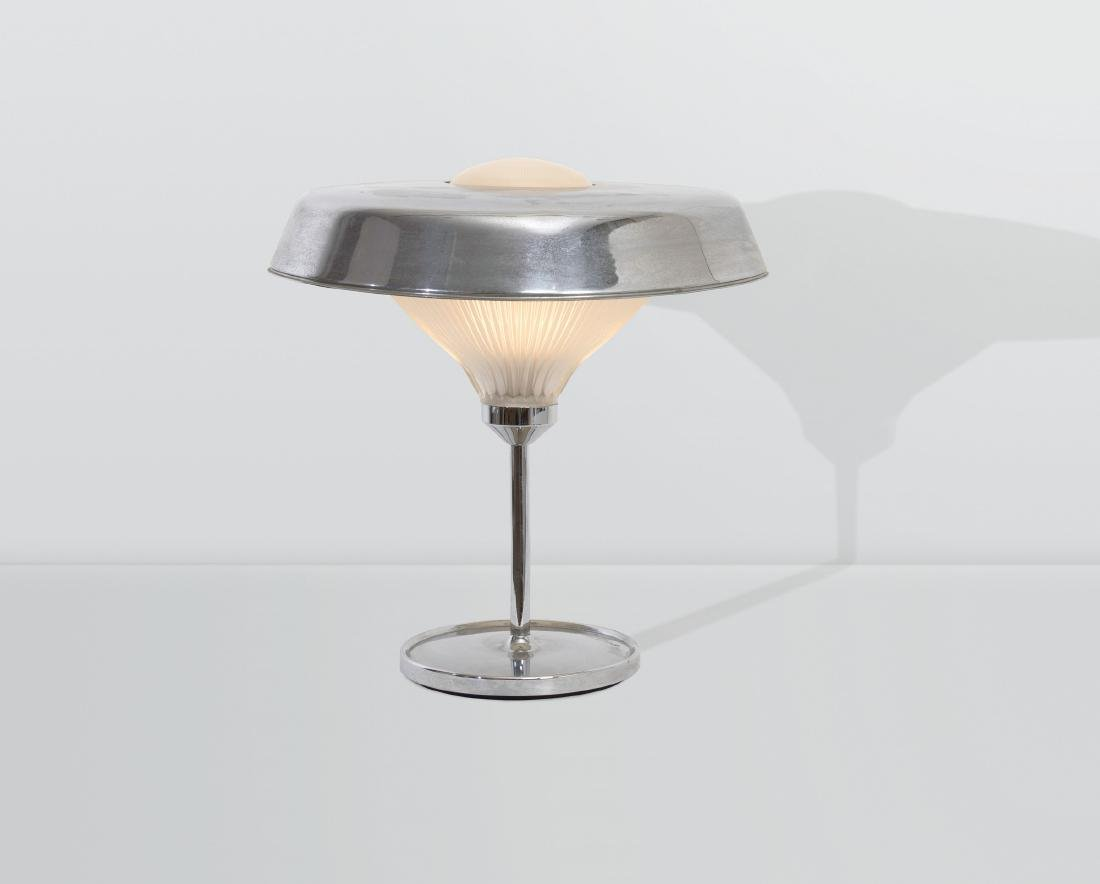BBPR, a Ro table lamp with a nickeled brass structure