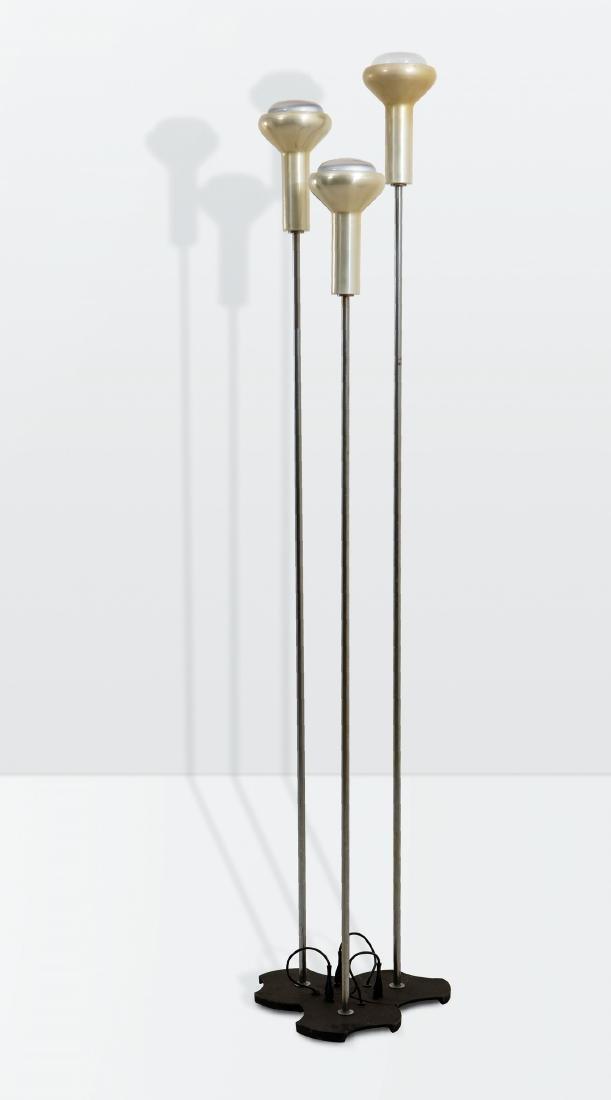 Gino Sarfatti, a set of three mod. 1073 floor lamps
