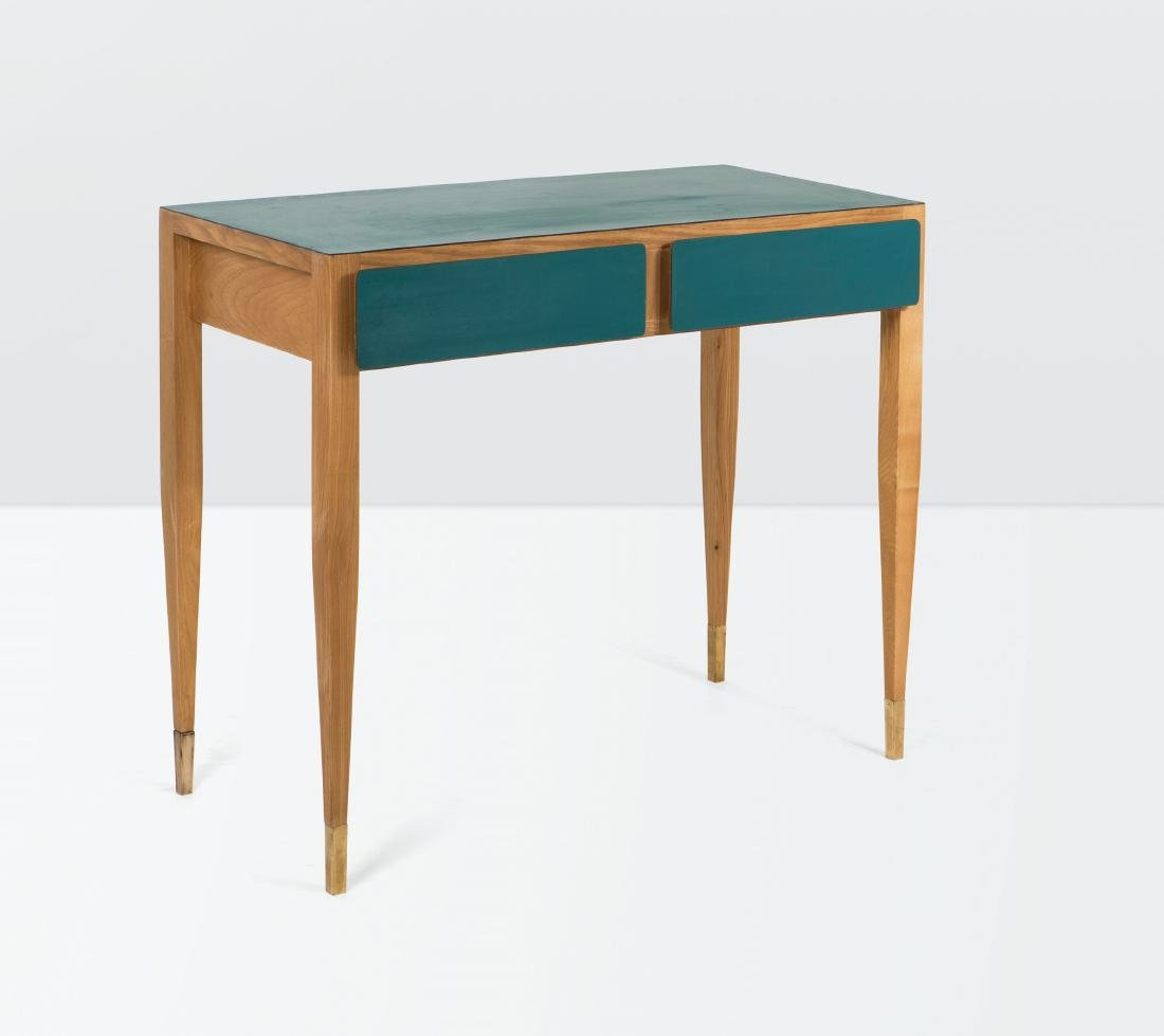Gio Ponti, a console table in wood and laminated wood.