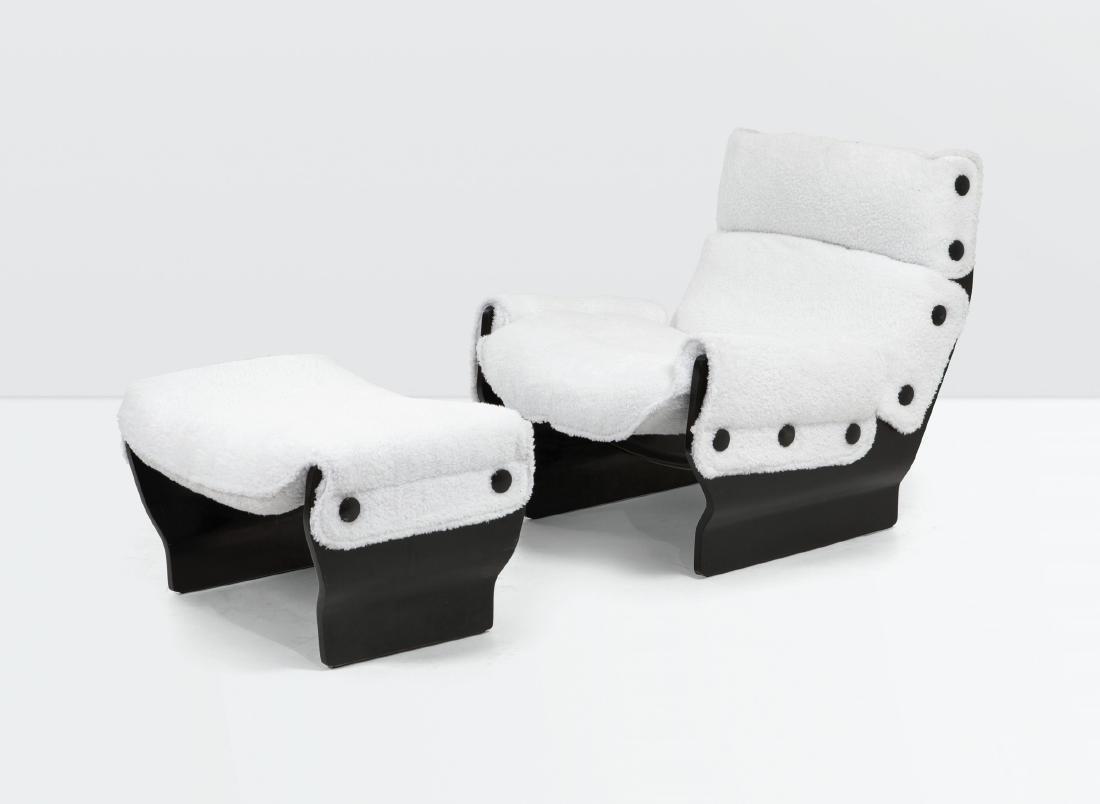 Osvaldo Borsani, a Canada P110 armchair and ottoman.