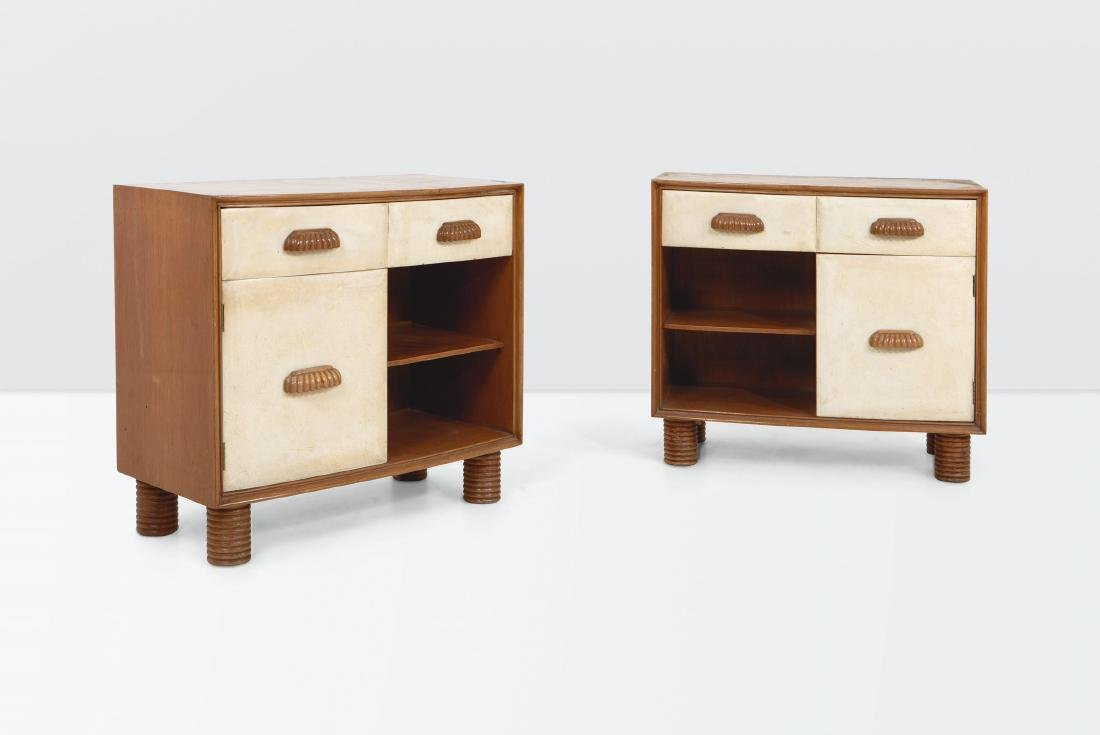 Osvaldo Borsani, a pair of nightstands with a wooden