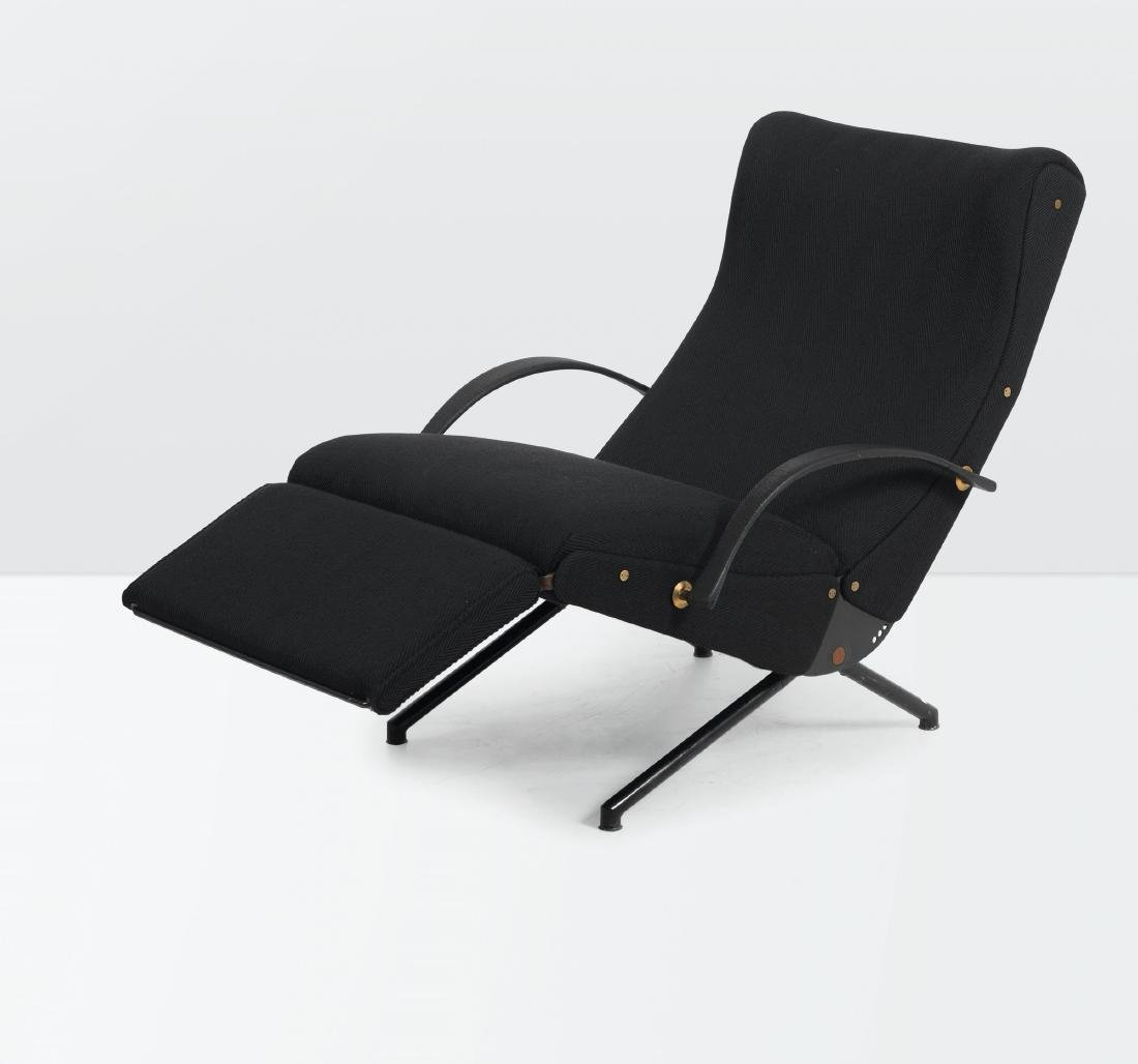 Osvaldo Borsani, a P40 armchair with a steel structure,