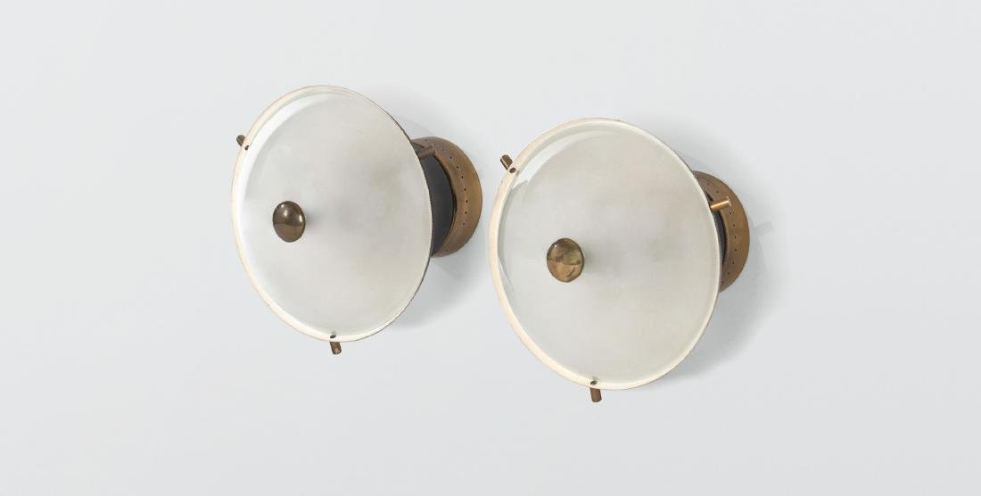 Oscar Torlasco, a pair of wall lamps
