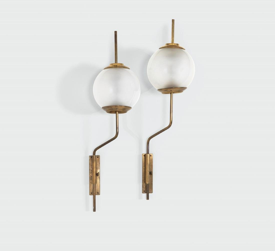 Luigi Caccia Dominioni, a pair of LP11 wall lamps with