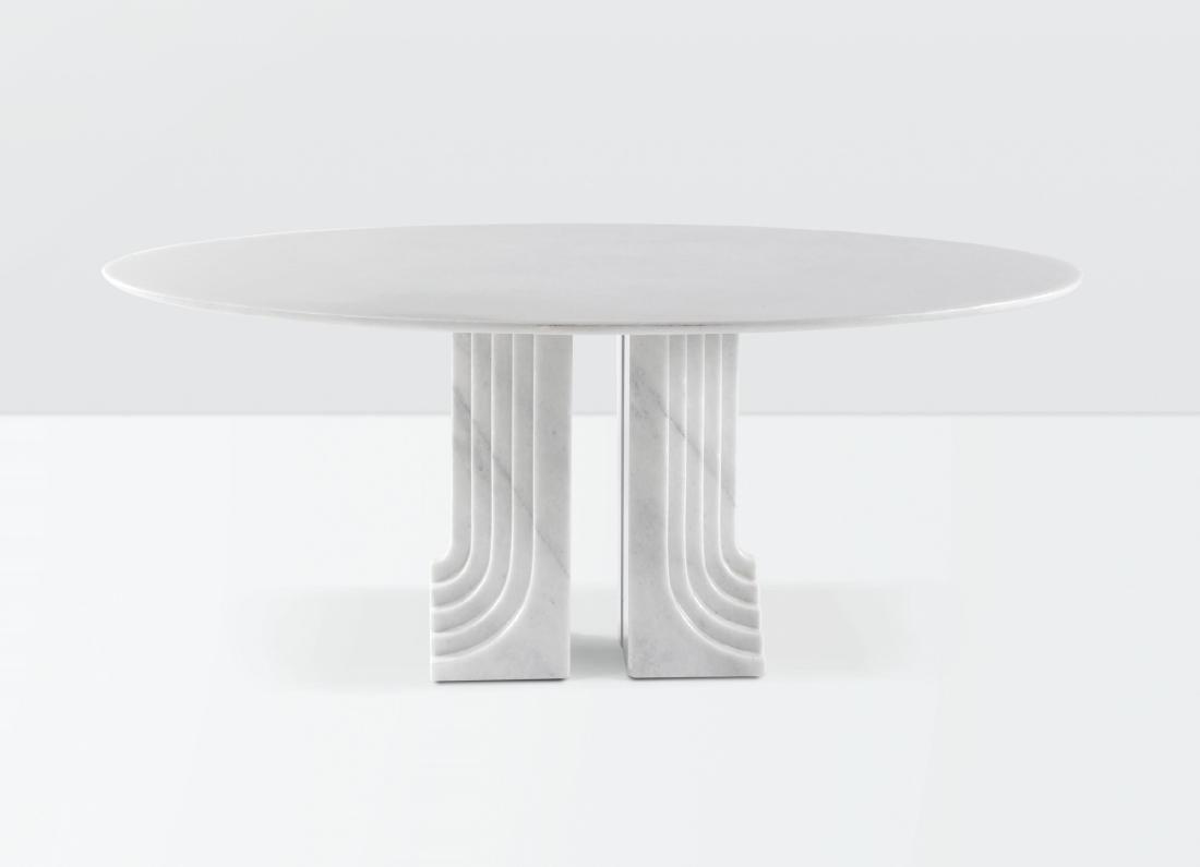 Carlo Scarpa, a marble Samo table. Simon Prod., Italy,