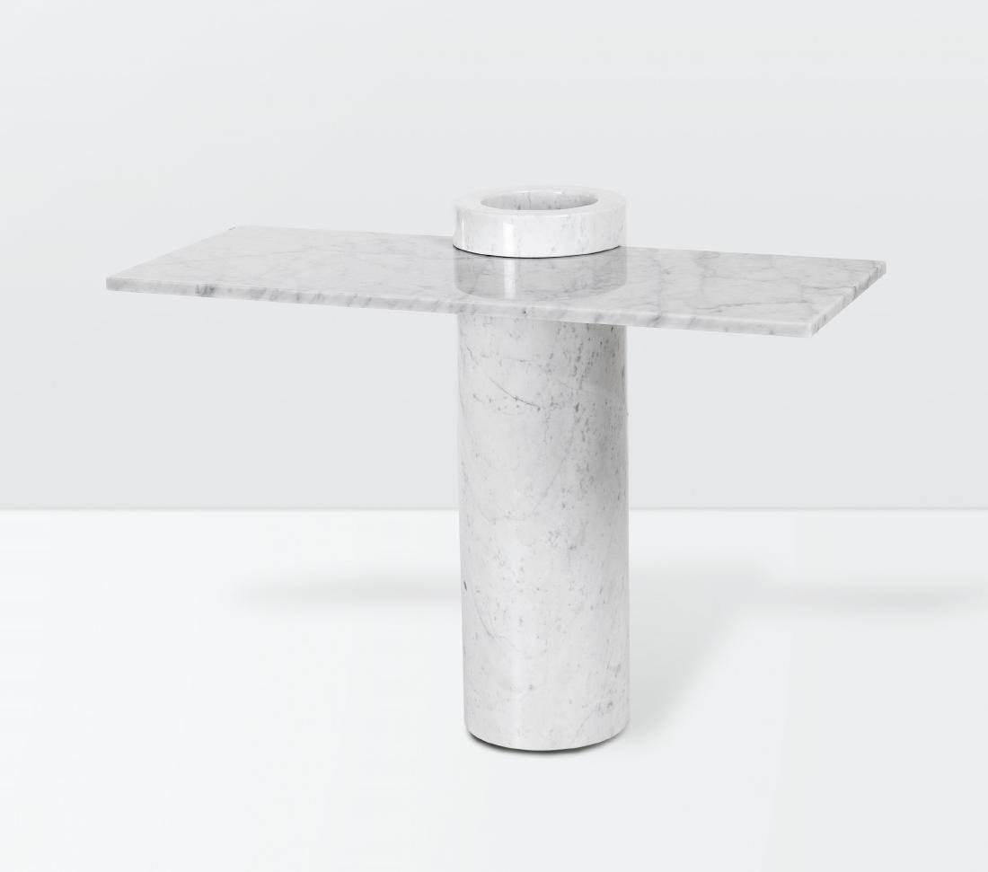 Angelo Mangiarotti, a Loico console table with a marble