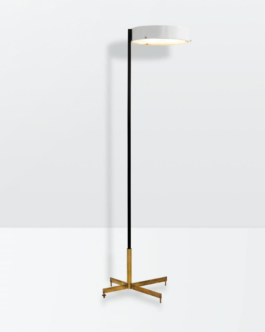 Bruno Gatta, a floor lamp with a polished brass and