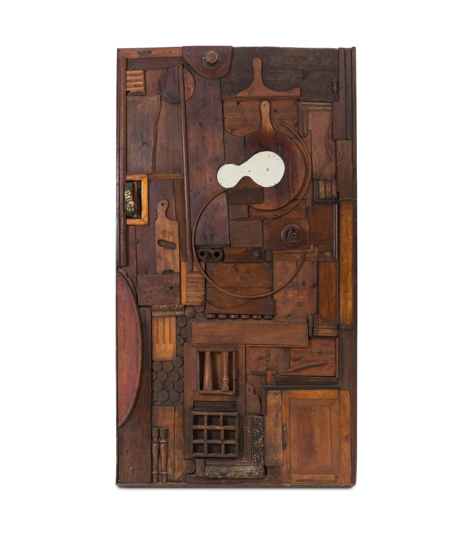 Pucci de Rossi, a wooden sculpture-door with a mirrored