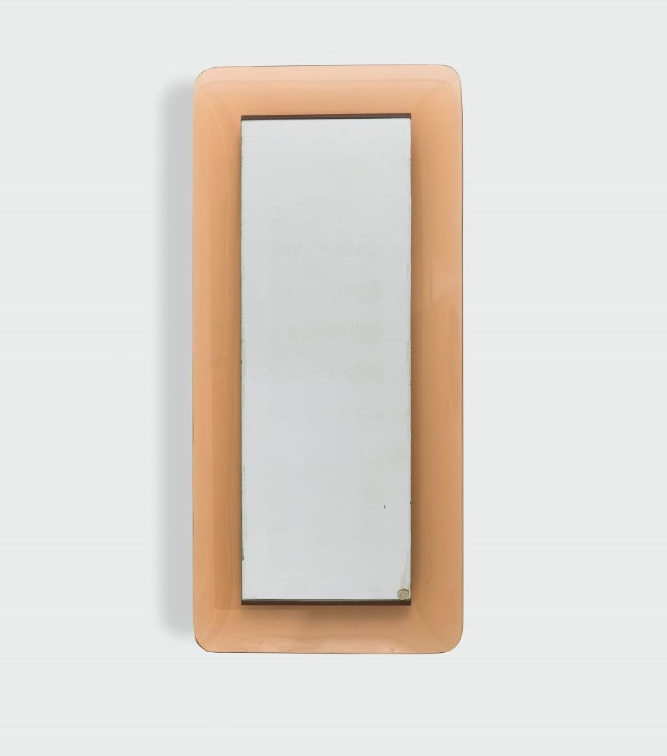 Max Ingrand, a mod. 2273 glass mirror with a coloured