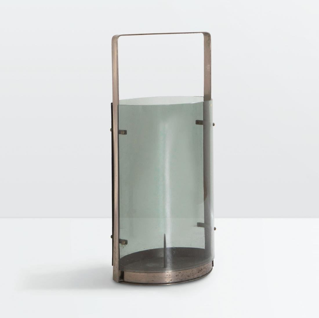Max Ingrand, an umbrella stand in chromed metal and