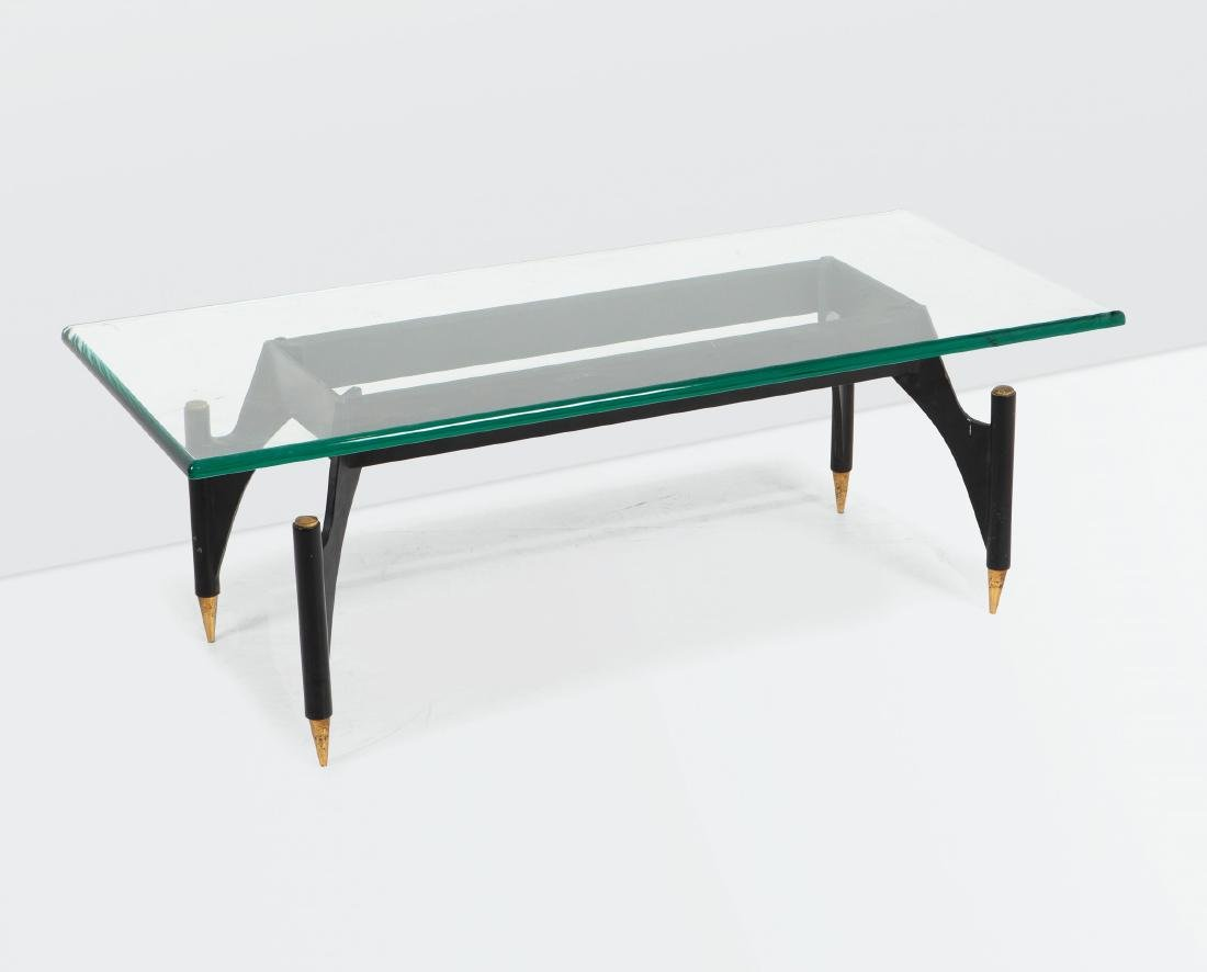Max Ingrand, a 2013 low table with a lacquered brass