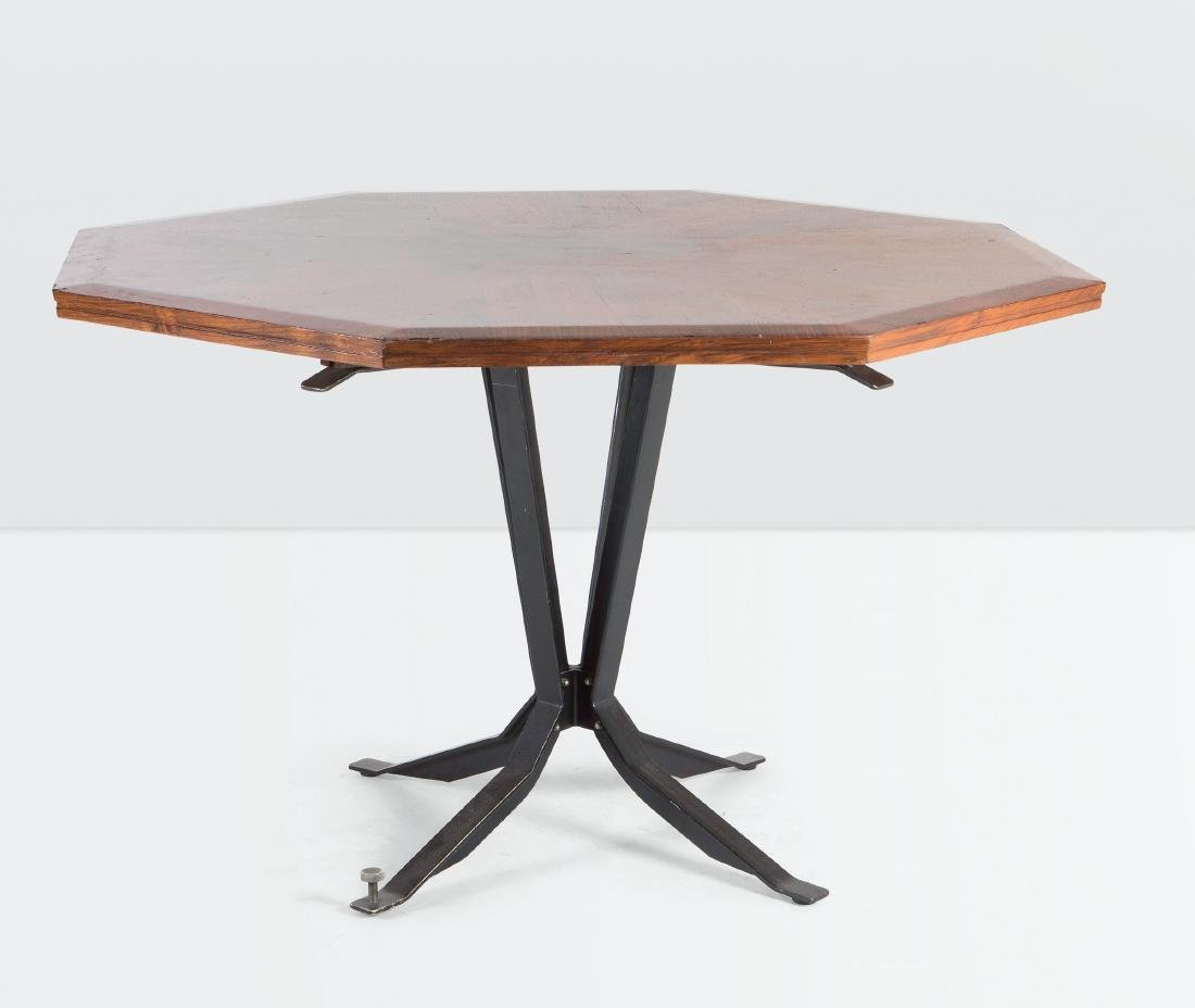 Leonardo Fiori, a table with a metal structure and a