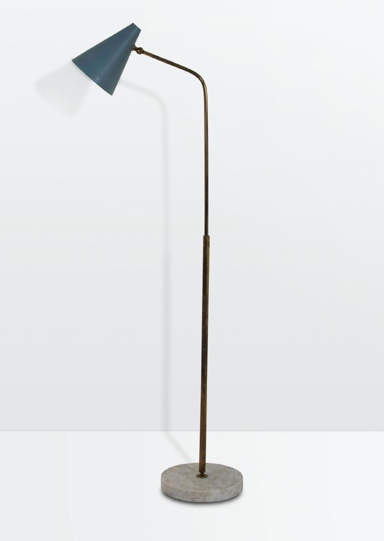 Giuseppe Ostuni, a floor lamp with a brass and