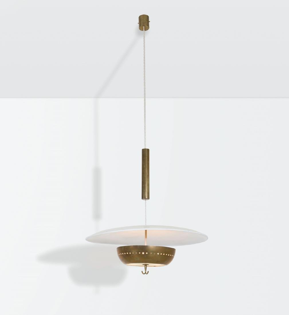 Gaetano Sciolari, a counterpoise lamp with a brass